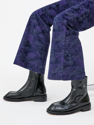 韓国ブランド「OPEN THE DOOR」のrounded zipper ankle boots (3 color)