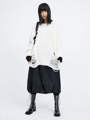 韓国ブランド「OPEN THE DOOR」のdamage loose knit (4 color) - woman