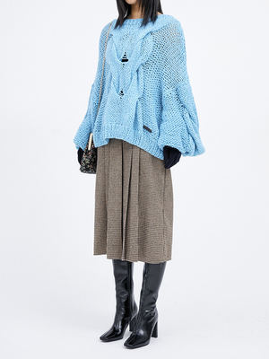 韓国ブランド「OPEN THE DOOR」のhandmade mohair loose knit (4 color) - woman