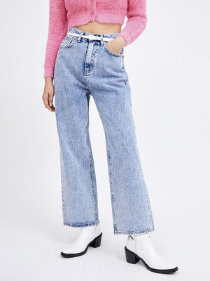 韓国ブランド「OPEN THE DOOR」のsnow wide jeans (2 color) - woman
