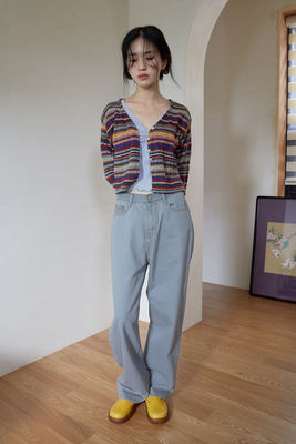 韓国ブランド「moaoL」のwide pot denim pants (5colors)