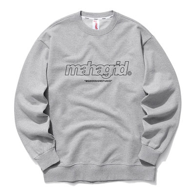 韓国ブランド「mahagrid」のTHIRD LOGO CREWNECK[GREY]