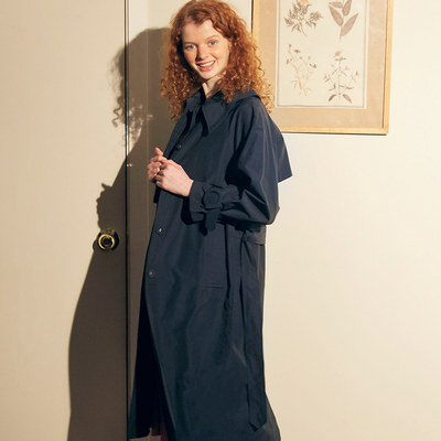 韓国ブランド「SALON DE YOHN」のRing Buckle Trench Coat_ Navy