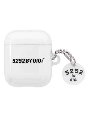 韓国ブランド「5252 by oioi」の5252 LOGO KEYRING AIRPODS CASE_clear