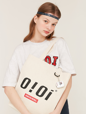 韓国ブランド「5252 by oioi」のBASIC LOGO ECO BAG_beige