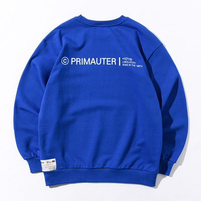韓国ブランド「PRIMAUTER」のPM LOGO Sweatshirts (Blue)