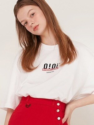 韓国ブランド「5252 by oioi」のOI BACK LOGO T-SHIRTS_white