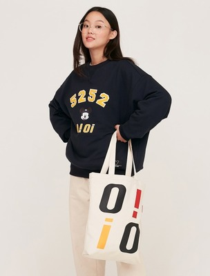 韓国ブランド「5252 by oioi」のPOCKET ECO BAG_ivory