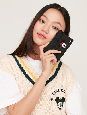 韓国ブランド「5252 by oioi」のCOIN WALLET / MICKEY MOUSE_black