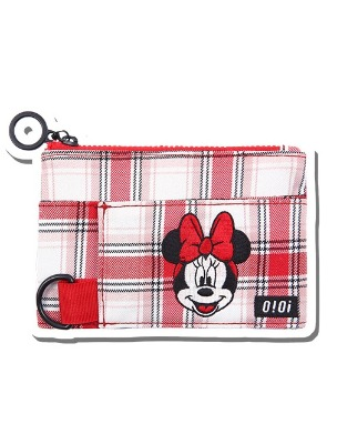 韓国ブランド「5252 by oioi」のPATTERN COIN WALLET / MINNIE MOUSE_red check