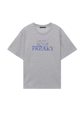 韓国ブランド「1991」のFREAKY OVER FIT TEE_MELANGE GREY