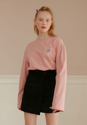 韓国ブランド「CLOTTY」のSMALL CC LONG SLEEVE[PINK]