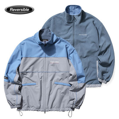 韓国ブランド「mahagrid」のREVERSIBLE FLEECE TRACK JACKET[GREY]