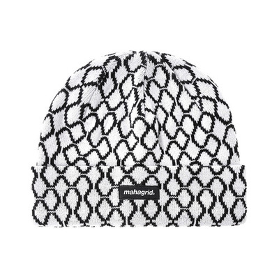韓国ブランド「mahagrid」のTICKET SHORT BEANIE[WHITE]