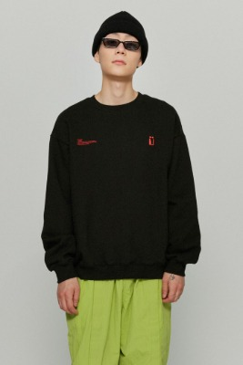 韓国ブランド「ISTKUNST」のFLAG SWEATSHIRTS[BLACK]