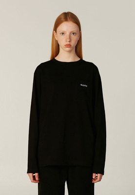 韓国ブランド「CLOTTY」のCC LOGO POCKET LONG SLEEVE[BLACK]