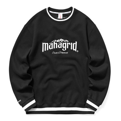 韓国ブランド「mahagrid」のMOUNTAIN SWEATSHIRT[BLACK]