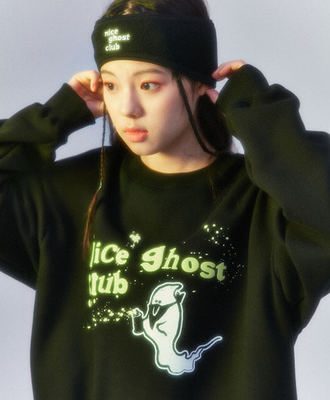 韓国ブランド「nice ghost club」のNGC_GRAFFITI GHOST SWEATSHIRTS[BLACK]