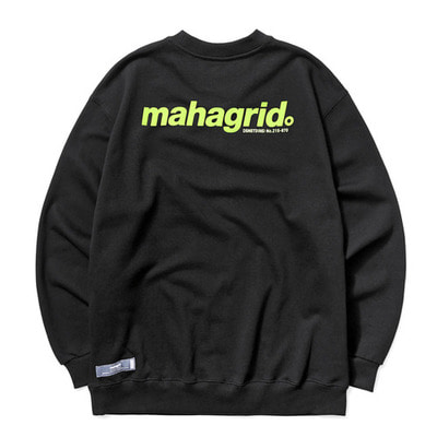 韓国ブランド「mahagrid」のBACK LOGO SWEATSHIRT[BLACK]