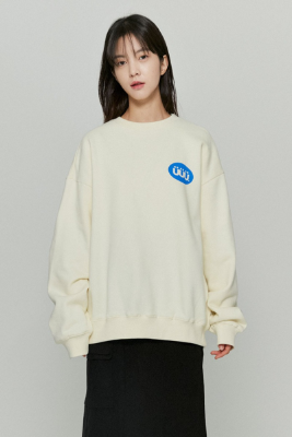 韓国ブランド「ISTKUNST」のPILL LOGO SWEATSHIRTS[CREAM]