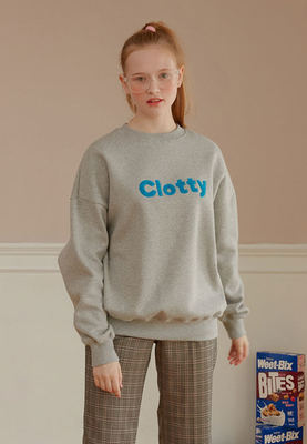 韓国ブランド「CLOTTY」のCLOTTY LOGO SWEAT-SHIRT[GREY]
