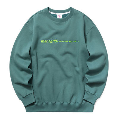 韓国ブランド「mahagrid」のLOGO EMB SWEATSHIRT[GREEN]
