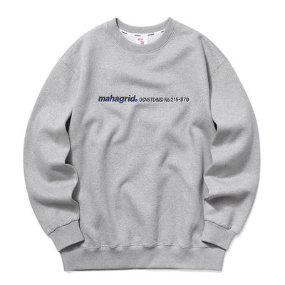 韓国ブランド「mahagrid」のLOGO EMB SWEATSHIRT[GREY]