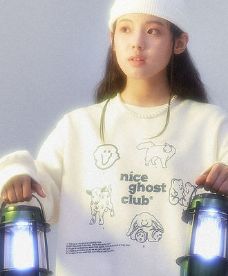 韓国ブランド「nice ghost club」のNGC_PICTORIAL SWEATSHIRTS[CREAM]