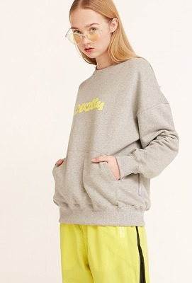 韓国ブランド「CLOTTY」のHEART CLOTTY SWEAT-SHIRT[GREY]