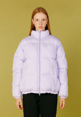 韓国ブランド「CLOTTY」のLOGO SOLARBALL SHORT PARKA[PURPLE]