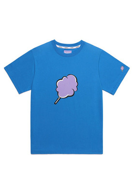 韓国ブランド「CLOTTY」のBIG CC T-SHIRT[BLUE]