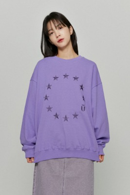 韓国ブランド「ISTKUNST」のEU LOGO SWEATSHIRTS[PURPLE]